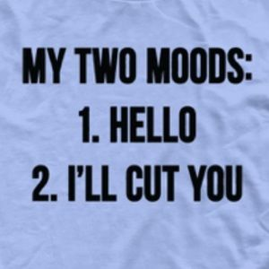 "NEW ""My two moods"" graphics tee!"